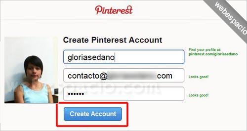Cómo registrarte en Pinterest (invitaciones) paso 4