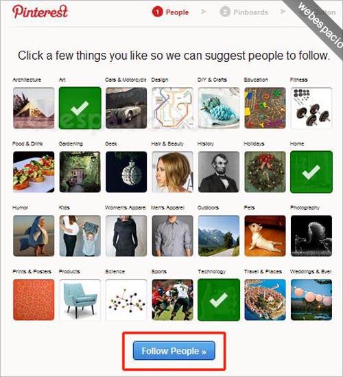Cómo registrarte en Pinterest (invitaciones) paso 5