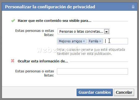 privacidad personalizada