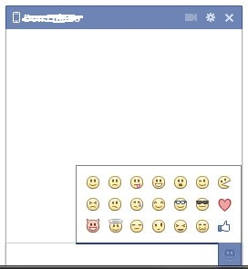 Facebook emoticones al chat