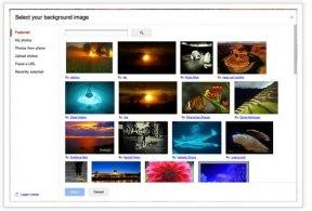 Gmail ya permite subir tu propia imagen como fondo