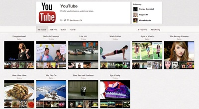 YouTube se une a Pinterest