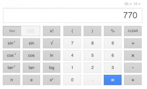 Google añade calculadora con 34 botones a las búsquedas