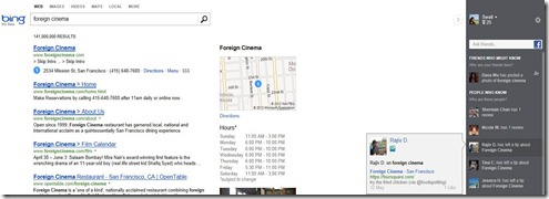 Foursquare se integra a Bing