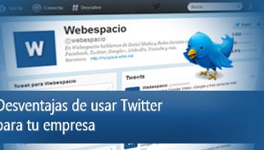 Desventajas de usar twitter para tu empresa