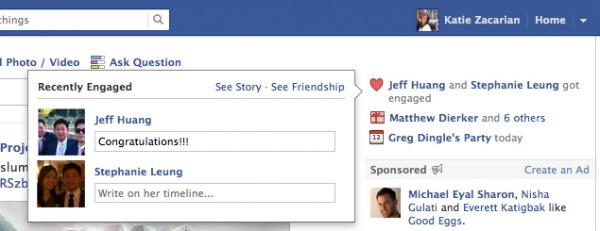 Facebook bodas y compromisos