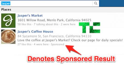 Facebook prueba resultados patrocinados