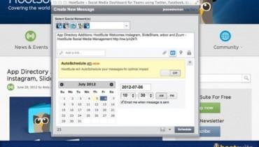 HootSuite añade AutoSchedule