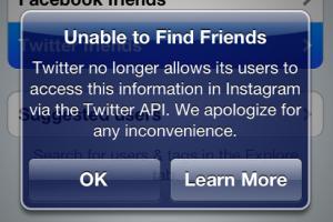 """Instagram pierde característica """"Encontrar amigos"""" de Twitter"""