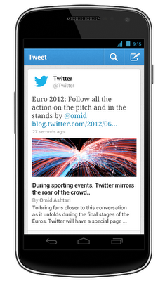 Twitter para iPhone y Android