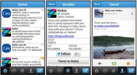 Twitter para teléfonos Nokia S40