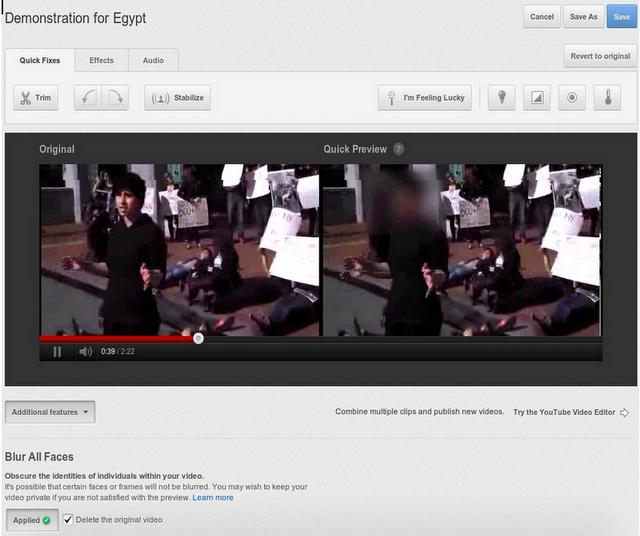 """YouTube lanza herramienta de """"rostros borrosos"""""""