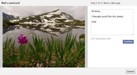 Facebook prueba convertir fotos en postales impresas