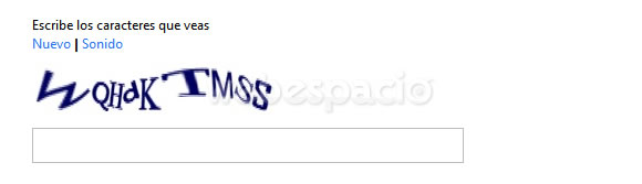captcha de registro outlook