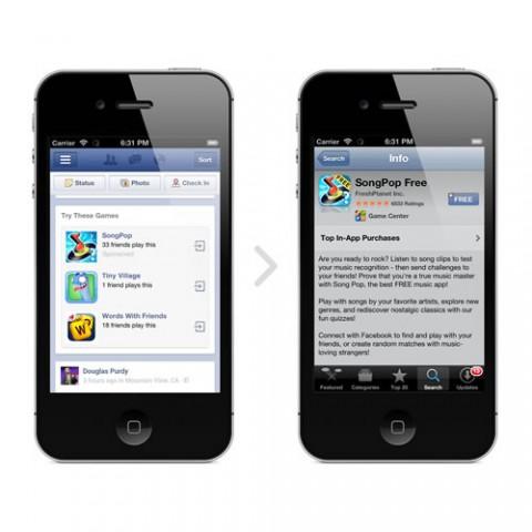 Facebook prueba anuncios sobre aplicaciones en móviles