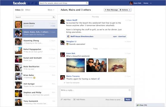 Facebook rediseña la bandeja de mensajes privados