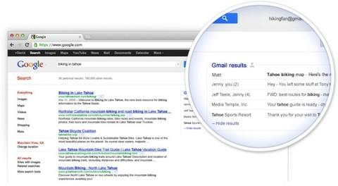 Google prueba incluir mensajes de Gmail en las búsquedas