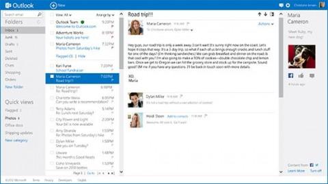Outlook.com y redes sociales