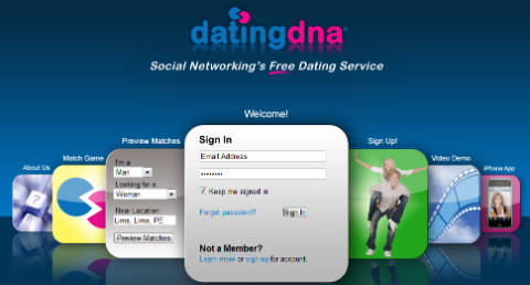 Sitio de citas Dating DNA