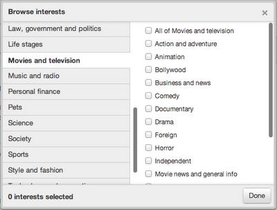 Twitter ofrece anuncios basados en los intereses de usuarios