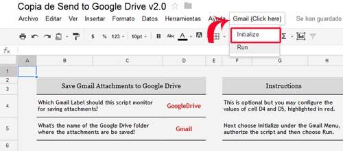 menú gmail