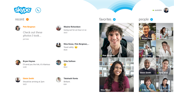 Nuevo Skype para Windows 8