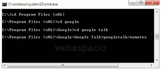 cmd google talk