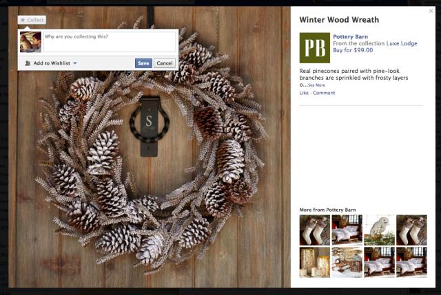 Facebook prueba botones para coleccionar productos como en Pinterest