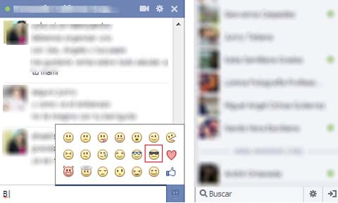 emoticones del chat de facebook