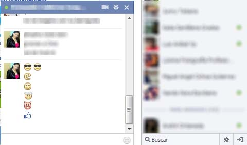 emoticones en el chat de facebook
