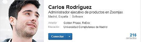 encabezado del perfil usuario de linkedin