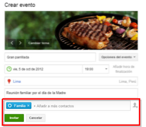 enviar invitaciones a evento en googleplus