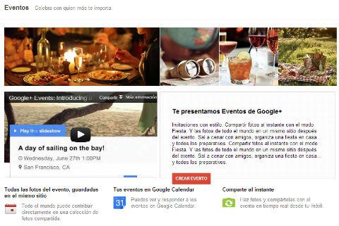 eventos de google plus