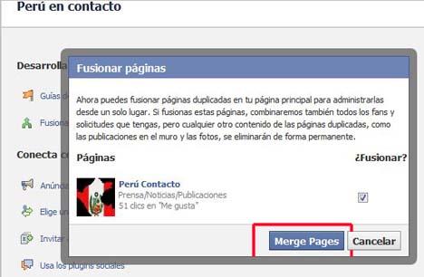 unir paginas