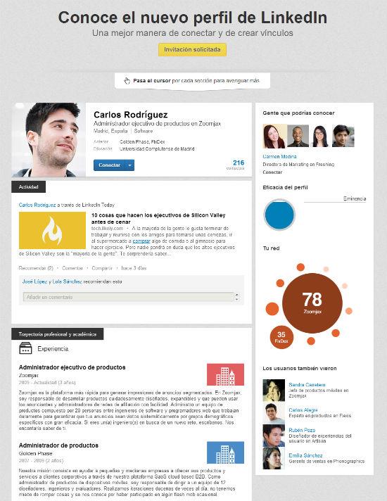 perfil de usuario de linkedin