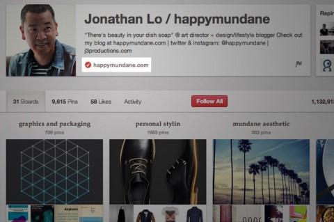 Pinterest añade verificación de sitios web  a los perfiles
