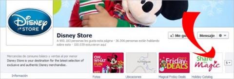 disney store en facebook