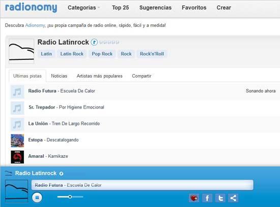 ejemplo de radio online