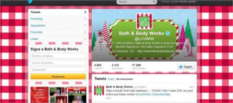 Bath & Body Works en Twitter