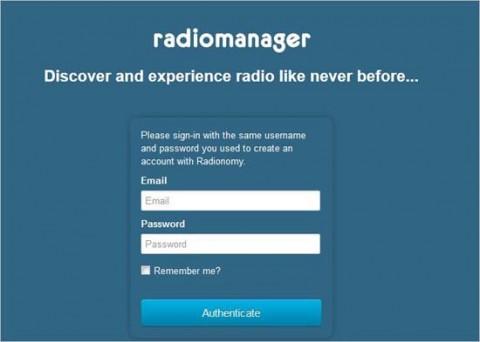 inicia en radiomanager