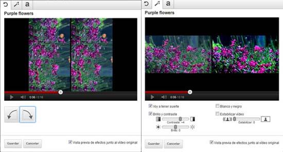personalizar texto y girar video