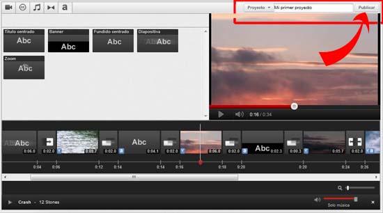 publicar un video