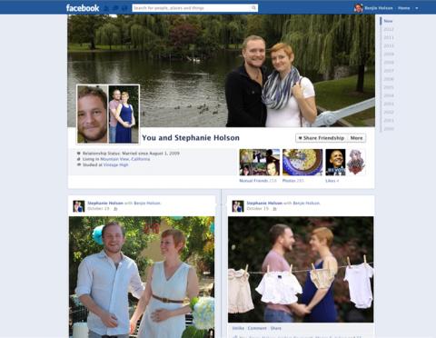 Páginas de amistad de Facebook se renuevan al estilo Biografía