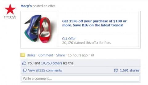 ofertas de facebook