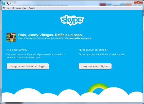 fusionar messenger con skype