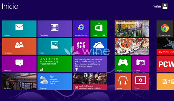 inicio windows 8