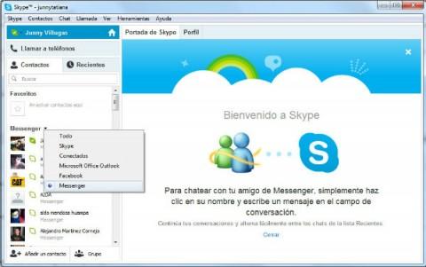 windows live messenger en skype