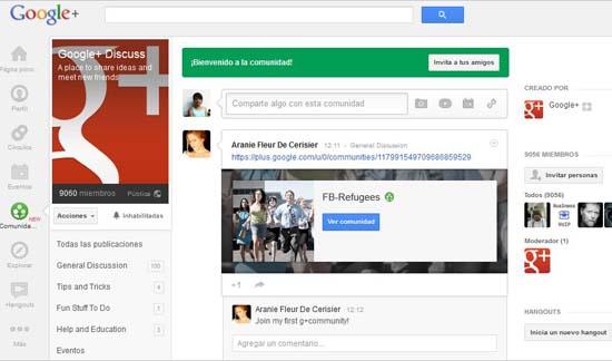caracteristicas de Google+ Comunidades