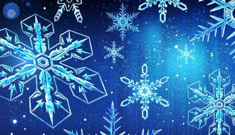 copos de nieve para navidad