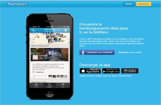 foursquare sincroniza facebook